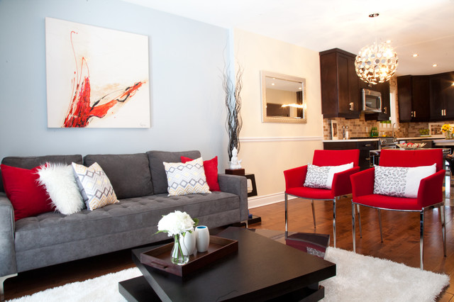 Living Room Designs Red And Grey Find This Pin More On Upstairs