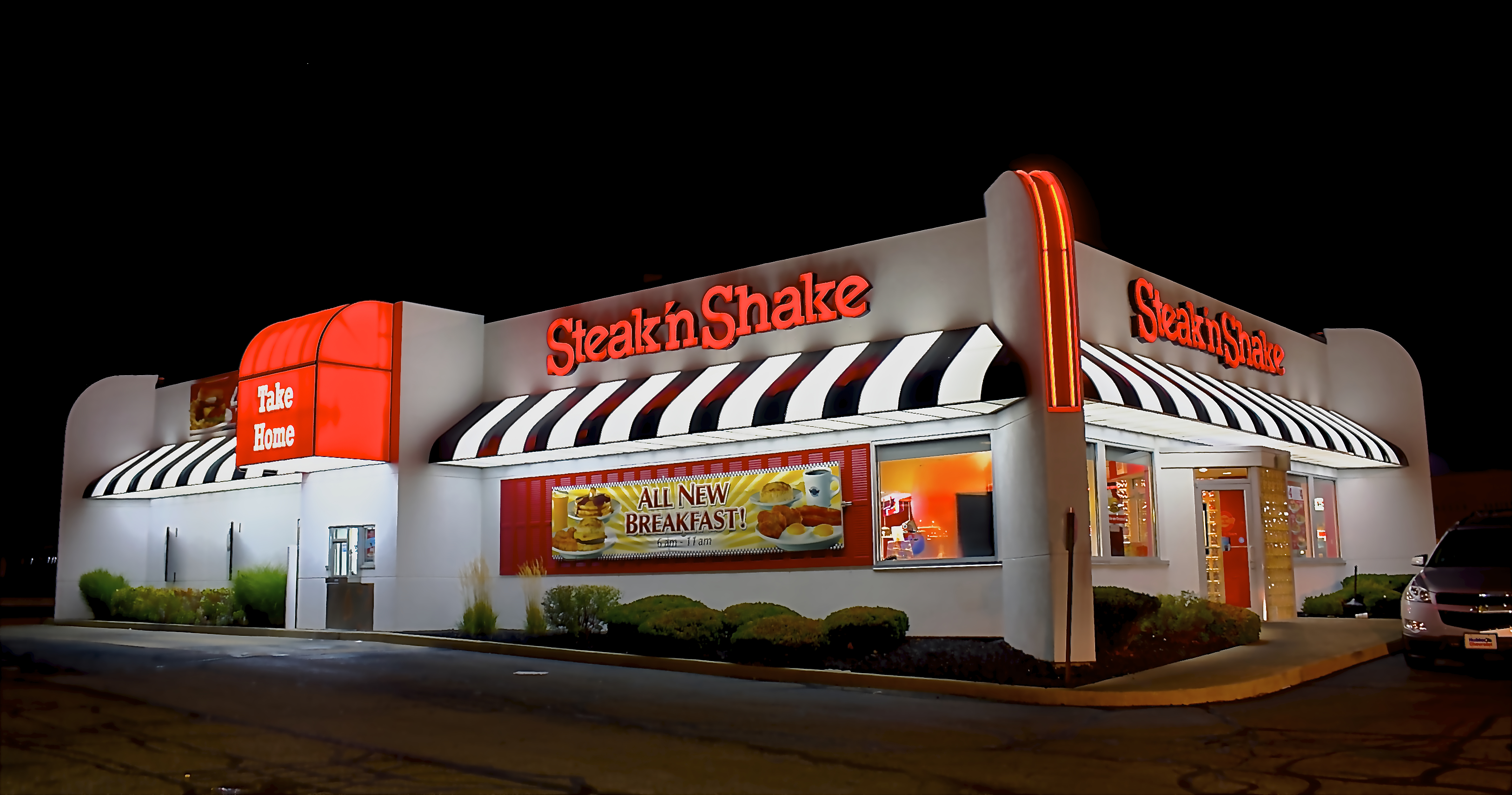 Steak 39 n shake opens south reno location parc for t at for Steak n shake dining room hours
